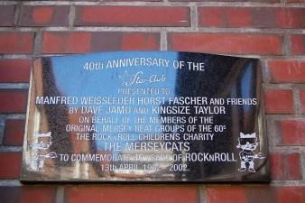 Star-Club plaque, Hamburg, 2011