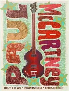Poster for Paul McCartney's concerts in Newark, New Jersey, September 2017