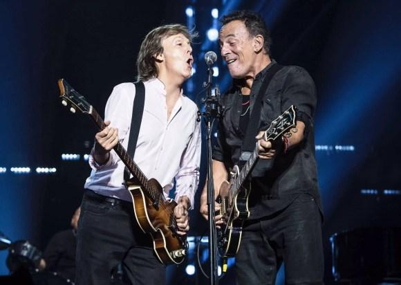 Paul McCartney and Bruce Springsteen live at Madison Square Garden, New York, 15 September 2017