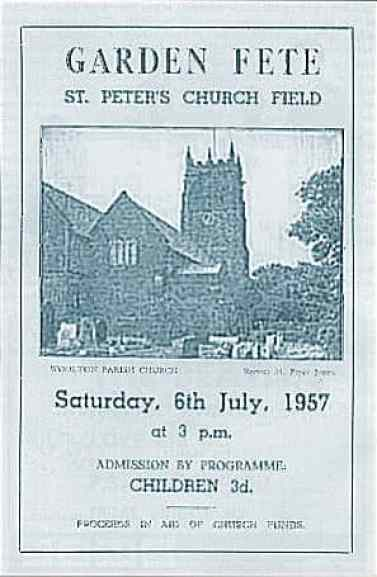 Programme for the Woolton Parish Church garden fete, Liverpool, 6 July 1957