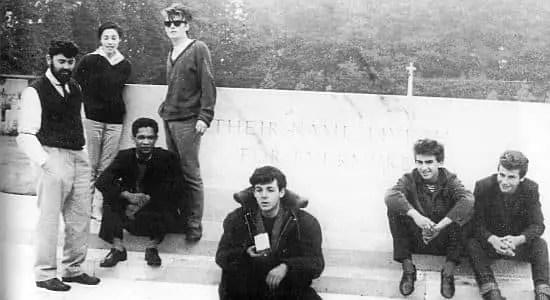 The Beatles at the Arnhem war memorial