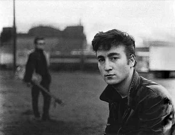 John Lennon and Stuart Sutcliffe in Hamburg, 1960