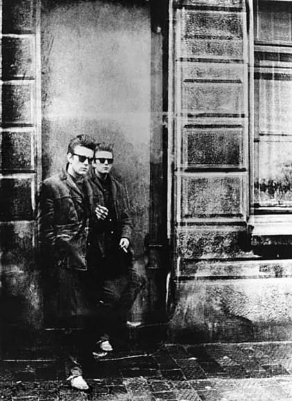 Double exposure of Stuart Sutcliffe in Hamburg, 1960