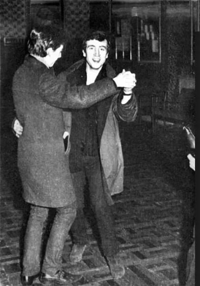 John Lennon at the Palais Ballroom, Aldershot, 9 December 1961