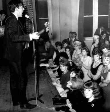 The Beatles performing at Town Hall, Newton-le-Willows, 30 November 1962