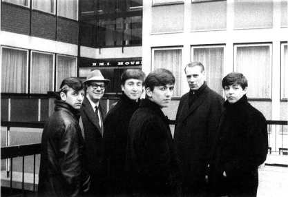 The Beatles, Dick James and George Martin, London, 5 March 1963