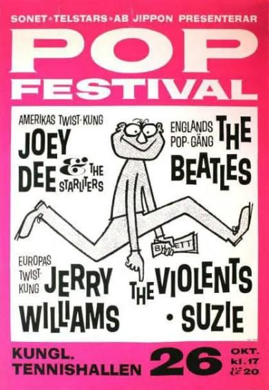 Poster for The Beatles in Stockholm, Sweden, 26 October 1963