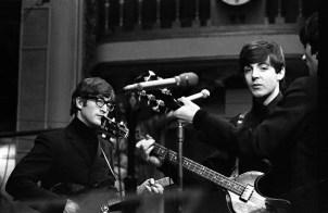 John Lennon, Paul McCartney and George Harrison, Saturday Club, BBC, 17 December 1963