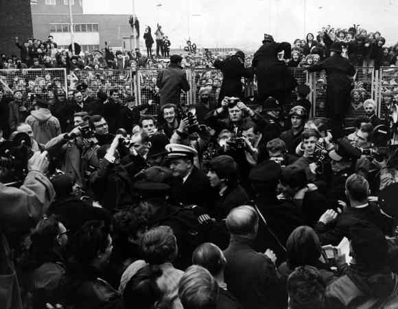 The Beatles at London Airport, 22 February 1964