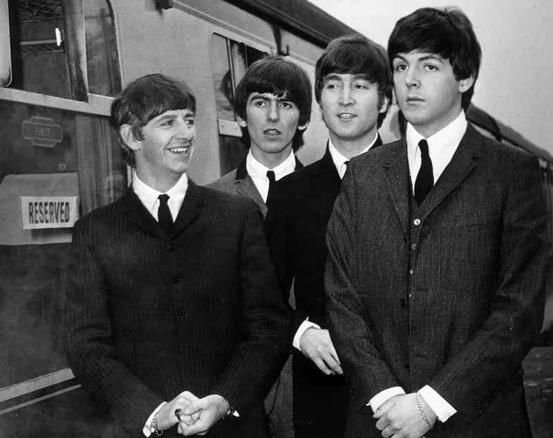 The Beatles filming A Hard Day's Night, March 1964