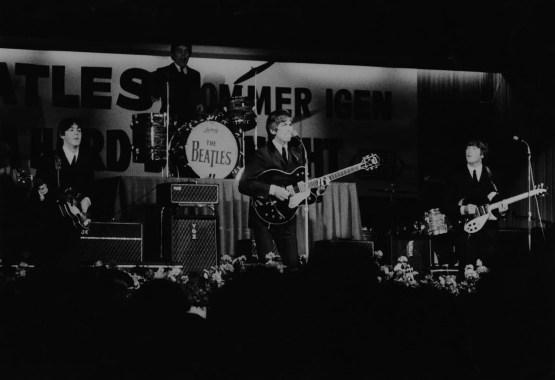 The Beatles with Jimmie Nicol at the KB Hallen, Copenhagen, Denmark, 4 June 1964