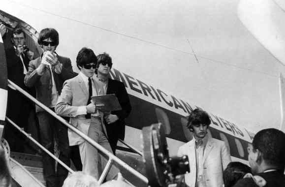 The Beatles arriving in Denver, 26 August 1964