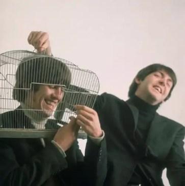 George Harrison and Paul McCartney, 1964