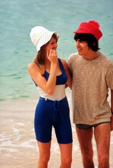 George and Pattie Harrison, Bahamas, 1965