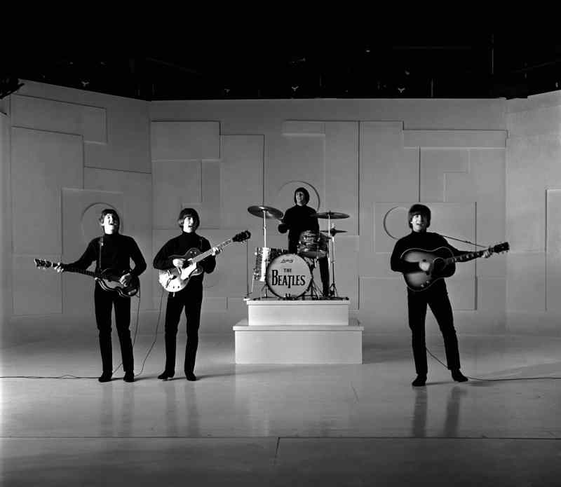 The Beatles filming the title sequence from Help!, 22 April 1965