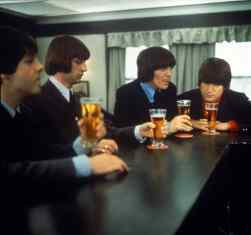 The Beatles in the pub in Help!, 28 April 1965