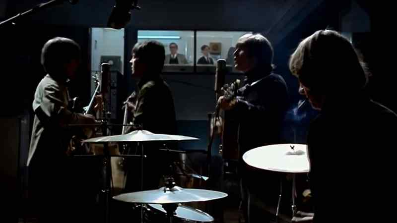 The Beatles film the You're Going To Lose That Girl scene in Help!, 30 April 1965