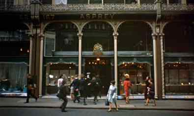 The Beatles filming Help! outside Asprey, New Bond Street, London, 9 May 1965