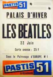 Poster for The Beatles at Palais d'Hiver, Lyon, France, 22 June 1965