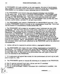 The Beatles' contract for performances at Portland Coliseum, 22 August 1965 - part three