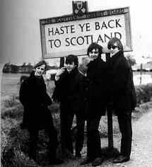 The Beatles: 'Haste ye back to Scotland'