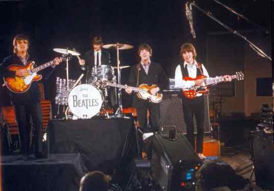 The Beatles film promos for Paperback Writer and Rain, Abbey Road, 19 May 1966