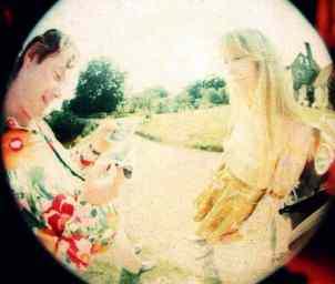 Brian Epstein and Pattie Harrison at Kingsley Hill, Sussex, 1967