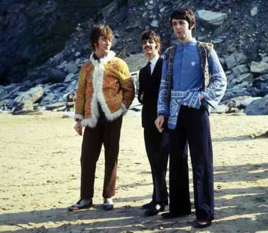 The Beatles filming Magical Mystery Tour at Watergate Bay, Newquay, 13 September 1967