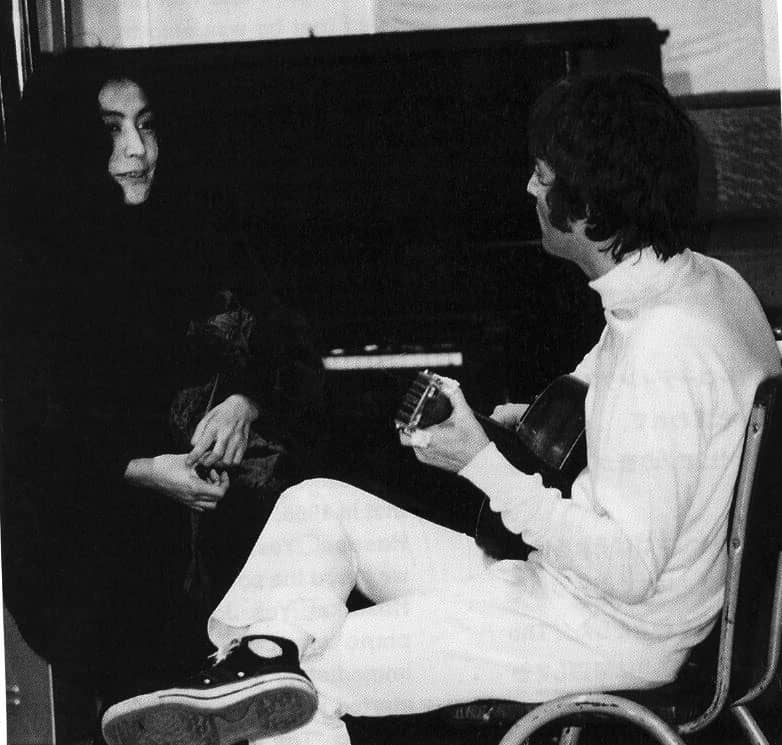 John Lennon and Yoko Ono, EMI Studios, 25 September 1967