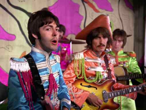 The Beatles in the Hello, Goodbye promotional film, 10 November 1967