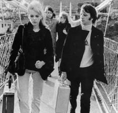Ringo Starr and Maureen Starkey, Paul McCartney and Jane Asher in India, 20 February 1968