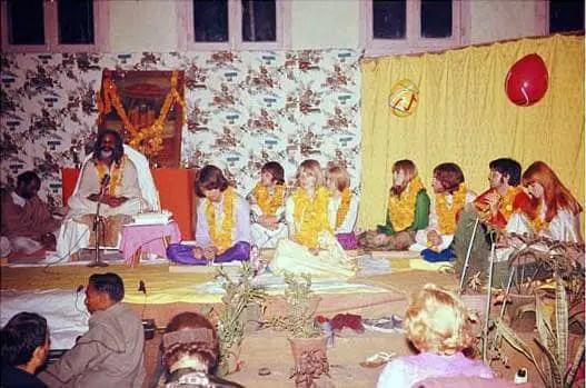 The Beatles in Rishikesh, India, 25 February 1968