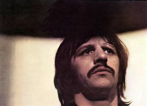 Ringo Starr in Apple Studios, February 1969