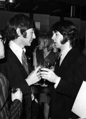 Paul McCartney at the launch party for Mary Hopkin's album Postcard, 13 February 1969