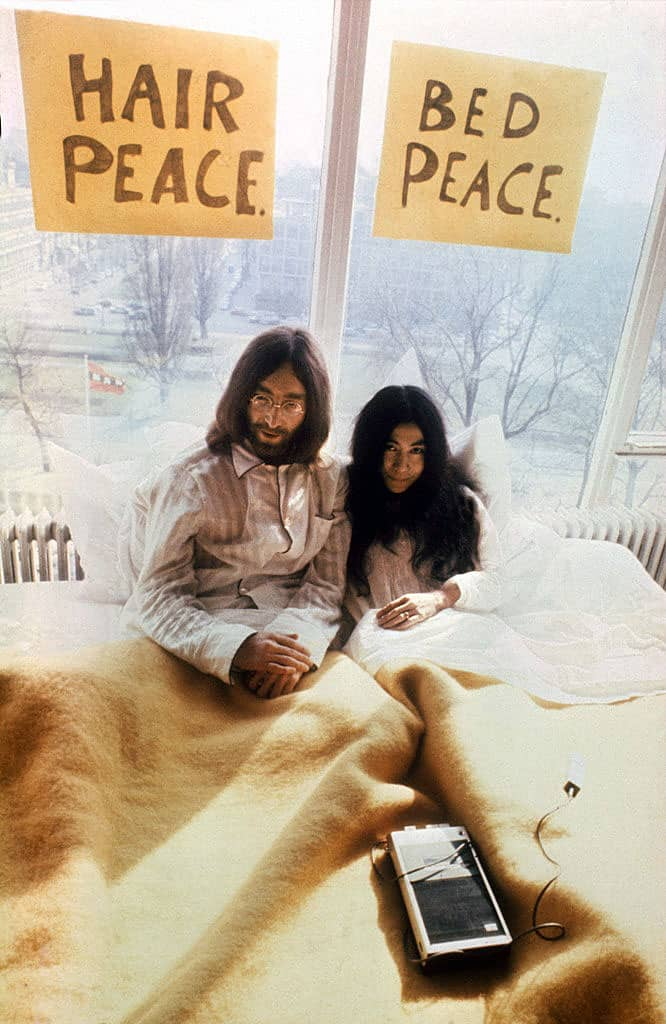 Image result for john and yoko amsterdam bed in images