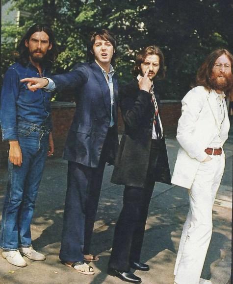 The Beatles outside EMI Studios, Abbey Road, 8 August 1969