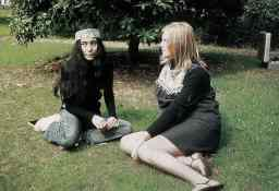 Yoko Ono and Linda McCartney at The Beatles' final photography session, Tittenhurst Park, 22 August 1969
