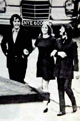 Paul McCartney, Linda McCartney and Ringo Starr, 1969