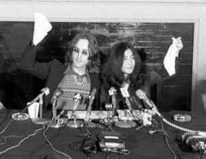 John Lennon and Yoko Ono announce their conceptual country Nutopia, 2 April 1973