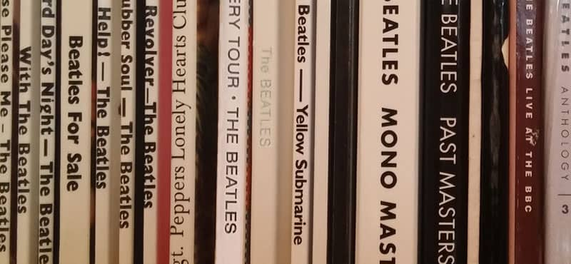 Beatles album spines