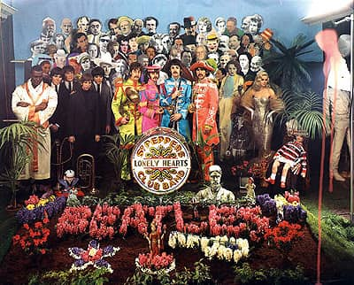 The full photograph used for the cover of Sgt Pepper's Lonely Hearts Club Band