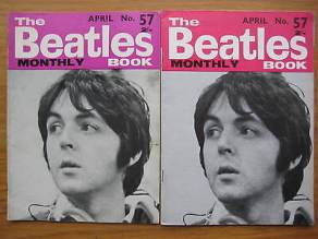 Beatles Book Monthly issue 57 – original and reprint