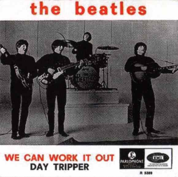 We Can Work It Out/Day Tripper single artwork - Belgium