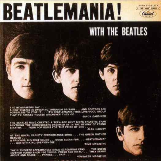 Beatlemania! With The Beatles album artwork - Canada