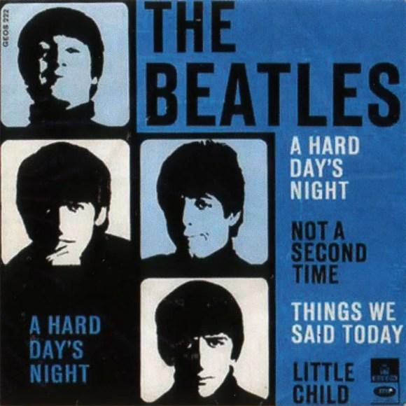 A Hard Day's Night EP artwork - Denmark