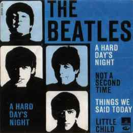 A Hard Day's Night EP artwork - Denmark