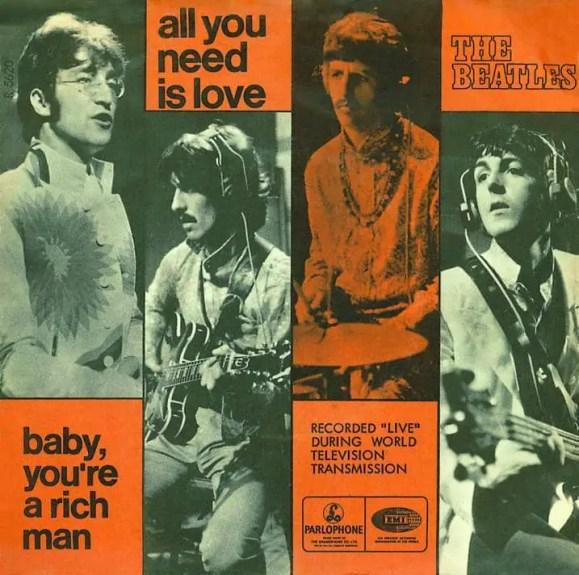 All You Need Is Love single artwork - Denmark