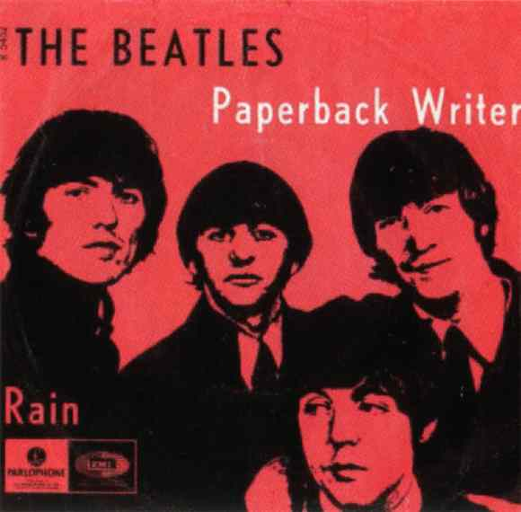 Paperback Writer single artwork - Denmark, Norway