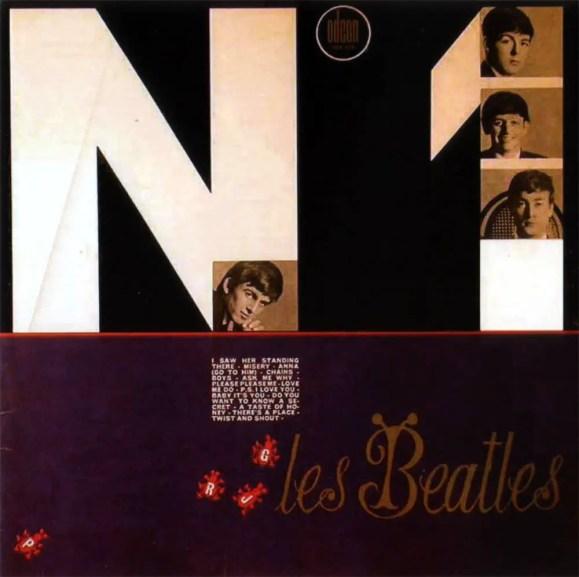Les Beatles No 1 album artwork - France