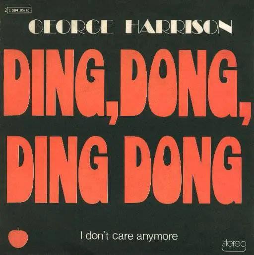 Ding Dong Ding Dong single artwork - George Harrison